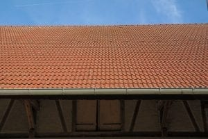 guttering on a roof